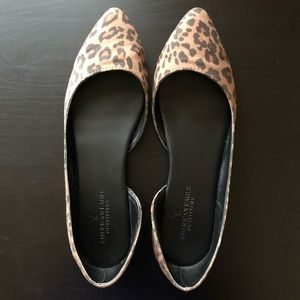 American Eagle Leopard Print Pointed Flats Size 8